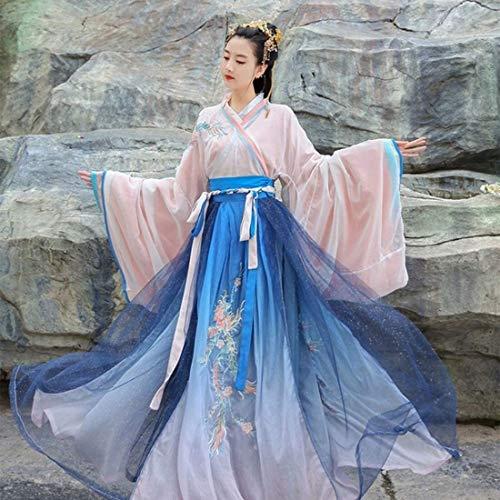 Chinese Hanfu, Oude Klederdracht Hanfu Jurken Womens Kleding Tang pak for Stage Show Performances Cosplay (Size : XS)