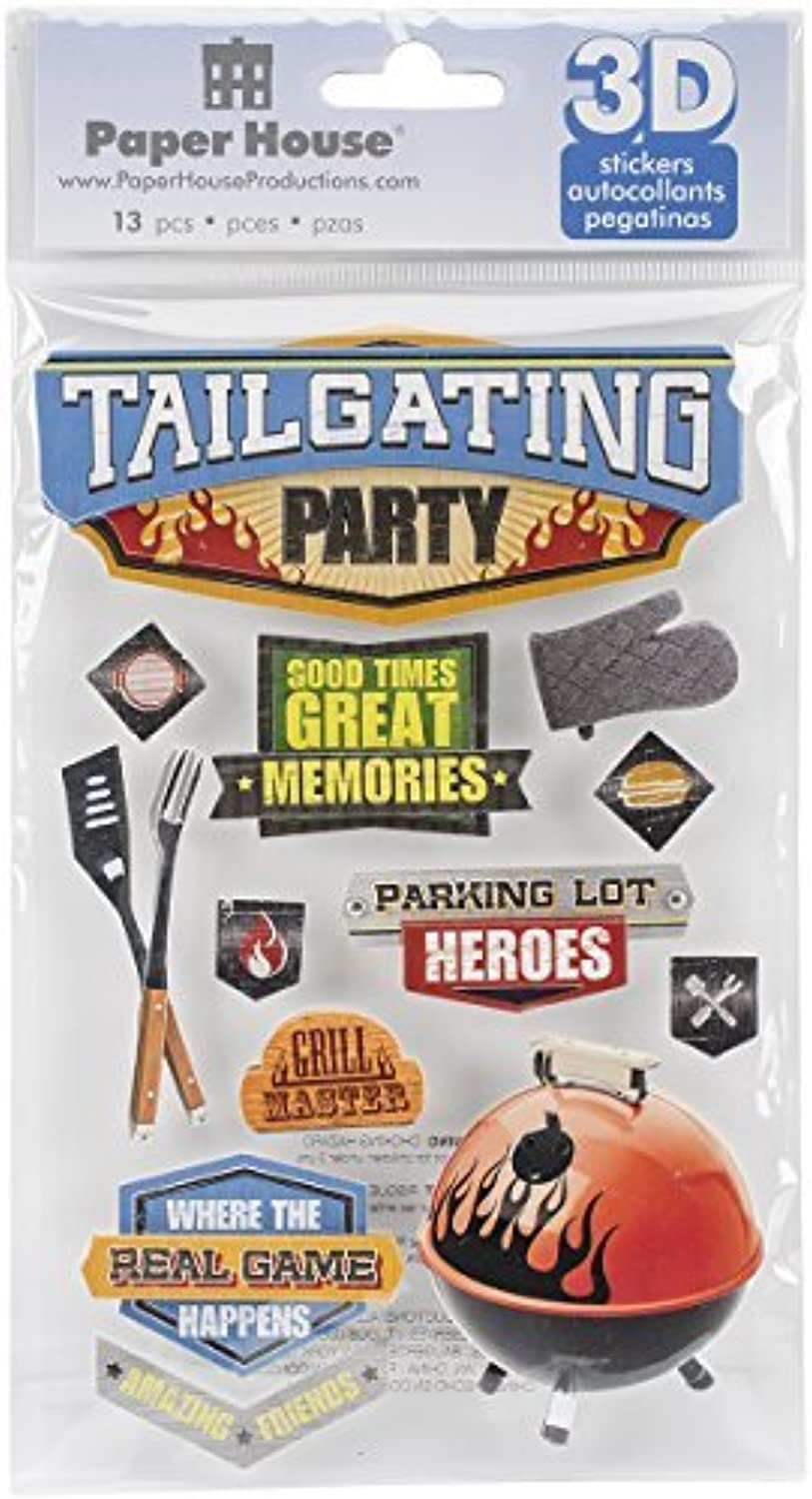 Paper House Productions STDM-0237E Tailgating Party 3D Stickers (3 Pack) by Paper House Productions B01IE8SM54 |