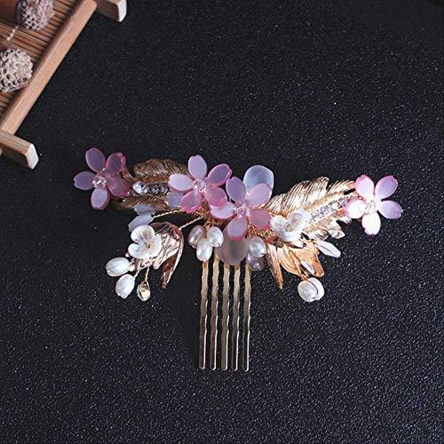 WOHAO Kopfbürste Schöne Brauthaar-Kamm-Hochzeitskleid-Haar-Zusätze Klipp Haarnadeln for Frauen Perlenschmuck Braut Kopfschmuck Einer Größe D-3