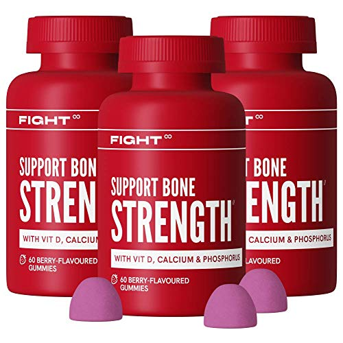 Joint Care Berry-Flavoured Gummy Multivitamins by FIGHT | Vitamin D, Calcium, and Phosphorus | 3X 60 Vegan and Gluten Free Vitamin Gummies