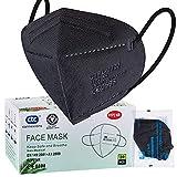 ctc connexions 20 Stück FFP2-Maske Schwarz, CE0598-Zertifizierung EN149:2001+A1:2009, 5-Lagige Staubmaske Atemschutzmaske, Unabhängige Verpackung