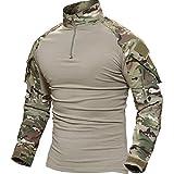 TACVASEN タクティカル シャツ 長袖 ミリタリーTシャツ シャツ メンズ アウトドア スポーツシャツ 自衛隊迷彩 サバゲー装備 CP 2XL