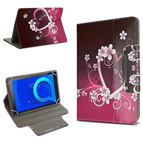 UC-Express Alcatel 1T 10 Tasche Schutz Hülle Tablet Schutzhülle Tab Hülle Cover 10.1 Zoll Bag, Farbe:Motiv 2
