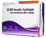 BD Ultra-Fine Insulin Syringes 30G 3/10 cc 1/2 inch 90/bx