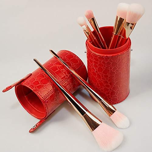 Maquillage Brush Set 7 Outils De Maquillage De Beauté Poignée En Métal Brosse De Fondation,Gold