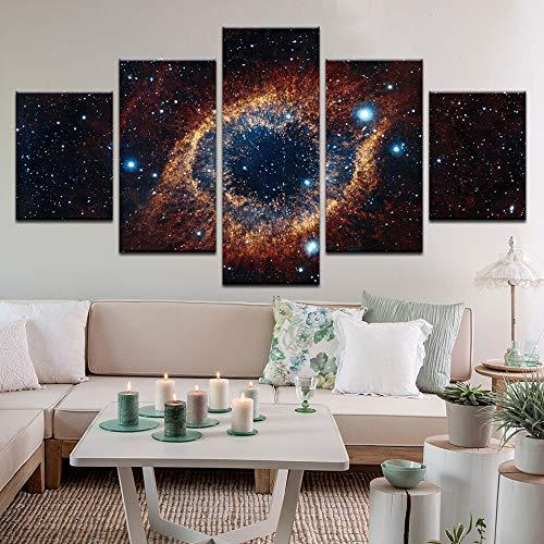 Gbwzz 5 stuks schilderijen op canvas 5 stuks bedrukte schilderijen voor buiten, planeet, modulaire afbeelding, moderne meubels, slaapkamer, woonkamer, decoratie voor de muur, huis, meubels, transport No Frame 30x40 30x60 30x80cm