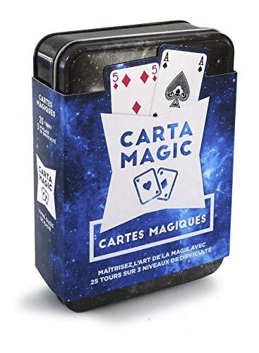Grimaud- Coffret CartaMagic-25 Tours de Magicien-Set d'initiation à la Magie avec Jeu de Cartes, 106748997
