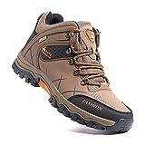Zapatillas Trekking Hombre Antideslizantes Zapatos de Senderismo Transpirable Botas Montaña Bajas al Aire Libre 4 Marrón 40 EU