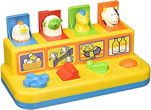 SRV Hub® - Animali pop-up, amici della fattoria, con teste di animali, giocattolo educativo e attività sensoriali, 18 mesi