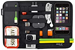 GRID-IT! organization system – a rubberized woven elastic object retention system for the ultimate in organization Organize gadgets: chargers, cords, headphones and gadgets Organize makeup: lipstick, brushes and nail polish Endless configurations Ver...