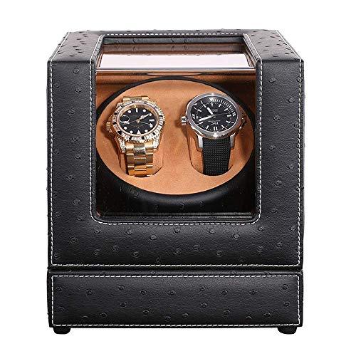 N\C Cajas giratorias para Relojes Enrollador de Reloj automático, Caja, Cajas de Almacenamiento de Lujo de Madera Doble de PU Wacthes con Moto silenciosa ZZST