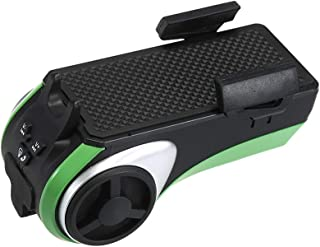 Multifunction Green Bike Speaker audio With BT Play Music Bicycle Front Dual LED Light Speaker With Warning Horn and Hands Free Call Support USB TF Card