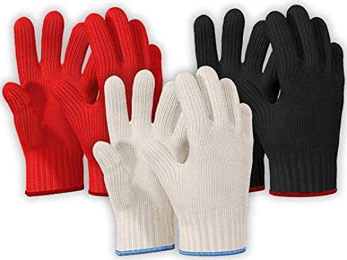 3 PAIRS Heat Resistant Gloves Oven Gloves Heat Resistant With Fingers Oven Mitts Kitchen Pot product image