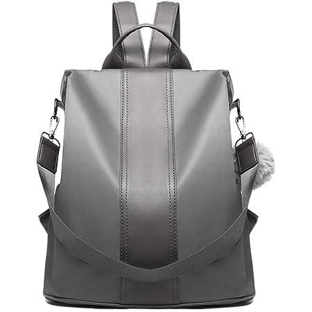 Miss Lulu Damen Rucksäcke Klein Anti Diebstahl Handtasche Casual Daypack für Damen Mädchen M (Grau)