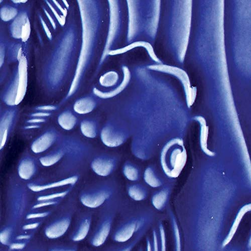 AMACO LG-21 Lead Free Liquid Gloss Glaze, Dark Blue, Pint