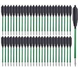 PMSM 6.5 Pulgadas Flechas de Ballesta Pernos de Ballesta,Mini Flechas De Aluminio para 50 LB / 80 LB Ballesta de Pistola,adecuadas para Practicar Tiro al Blanco, Caza pequeña (60 Piezas)