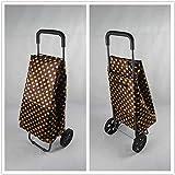 gengxinxin Chariot De Courses De Courses Pliable Extérieures De Rangement Caddie Caddie Portable Senior Home Shopping Cart 96 * 36 * 33 Cm-c.