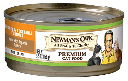 Newman's Own Premium, Turkey And Vegetable Formula For Cats, 5.5-Ounce Cans (Pack Of 24)