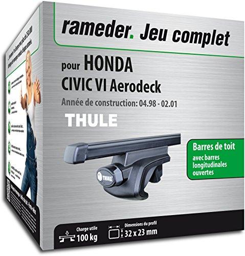 Rameder Pack, Barres de Toit SquareBar Compatible avec Honda Civic VI Aerodeck (115966-03562-69-FR)
