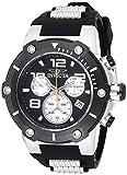Invicta Men's Speedway Stainless Steel Quartz Watch with Silicone Strap, Black, 30 (Model: 22235)