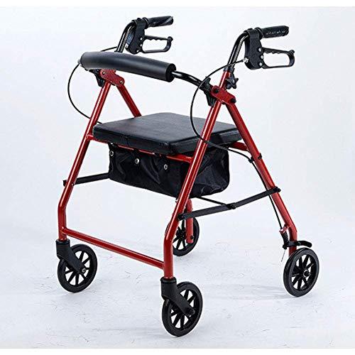 IF.HLMF - Carretilla de bicicleta plegable y ligera para conducción médica, moderna, con cuatro ruedas, tubo cuadrado de aleación de aluminio