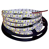 Tesfish 5m/rollo DC 24V 5050 Tira de LED de color blanco Impermeable IP65 300 LEDs Tira de LED de SMD 5050