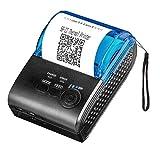 MUNBYN Impresora de Etiqueta Térmica Portáctil, Mini Tiketera de Recibos Inalámbrica Impresora de Tickets Bluetooth 4.0/ USB/COM, Comando ESC/POS Compatible con Android/Windows/iOS