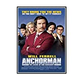 FJPDLAKE Anchorman Canvas Painting Art Posters Print for Home Wall Living Room Decor -20X28InchNoFrame1PCS