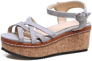 BalaMasa Womens ASL06226 Pu Platform Heels