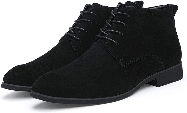 YAJIE-Stiefel, Men's Men's Men's Casual Solid Farbe für Spitze Zehe Mode Stiefeletten Schnürung High Top Stiefel (Farbe   Schwarz, Größe   40 EU) 0d1a3d