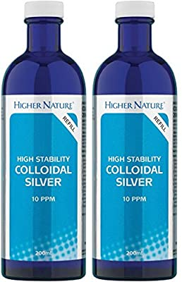(2 Pack) - Higher Nature - Colloidal Silver   200ml   2 PACK BUNDLE