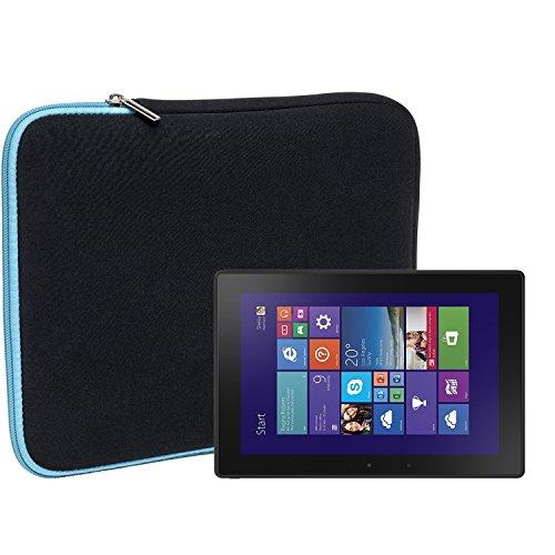 Slabo Tablet Tasche Schutzhülle für Dell Venue 10 Pro Hülle Etui Hülle Phablet aus Neopren – TÜRKIS/SCHWARZ
