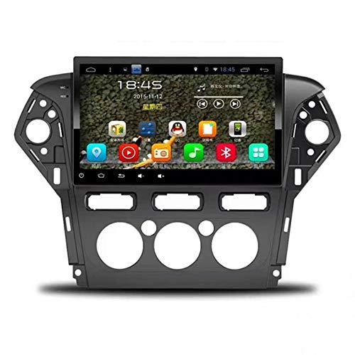 Estéreo Del Coche Radio De Navegación Por Satélite FM AM Pantalla Táctil Navegador GPS Soporte Control Del Volante Bluetooth Reproductor WIFI Soporte GPS USB SD Adecuado Para Ford Mondeo(Color:1G+16G)