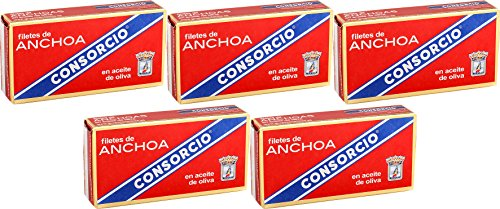 Anchoas en Aceite de Oliva Consorcio 45gr. [Pack 5 Latas]