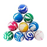 Kaimeilai Juego de 10 pelotas de goma para saltar, 45 mm, varios colores