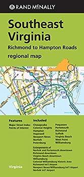 Rand McNally Southeast Virginia Regional Map  Richmond to Hampton Roads
