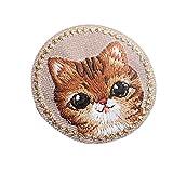 4pcs Animal hierro bordado en insignia Sew On patch Animal ropa bordado Applique Cat
