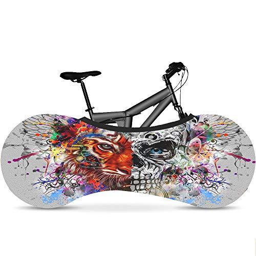 LSJZZ Telo coprimoto, Copertura della Bicicletta, Mountain Bike Storage Bag, la Migliore Soluzione per Mantenere i Pavimenti e Le pareti Dirt-Free,C