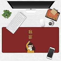 Zenghh コミックロリガール - ビッグフルサイズのマットデスクは、ゲーミングマウスパッドXXLマウスマットを拡張します。大型マウスパッド布のバージョンについてはE-スポーツノンスリップラバーマウスパッドステッチエッジ - 31.4「x11.8」(80x30cm) (Color : P)