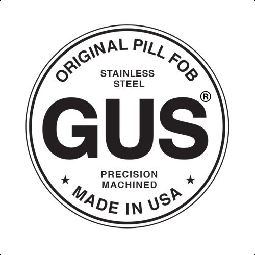 GUS Magnum Pill Fob, Made in USA, Stainless Steel Keychain Pill Holder, Larger Pill & Vitamin Holder