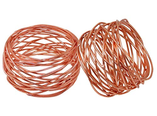 Divine glance Metal Mesh Napkin Rings Set for Dining Table (6, Copper)
