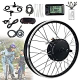 JINGJIN Kit de conversión de Bicicleta eléctrica 48V 1000W / 1500W, Kit de conversión de Bicicleta eléctrica de Rueda Delantera, Medidor KT-LCD7, Kit de Motor de Cubo de Rueda Delantera,1000W-28INCH