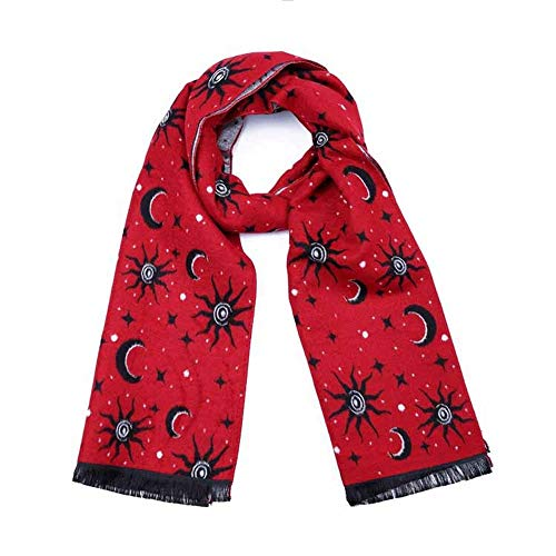 Kinderen sjaal zachte gebreide sjaal kinderen zoete franjes sjaal Wildes Cartoon-Star patroon, op de hele lijn meerheid, voor kleine kinderen, kinderen en oudere kinderen