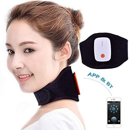 ZXL Nackenmassagegerät, tragbares wiederaufladbares kabelloses TENS-Gerät Elektrische Tiefenmassage zur Muskelentspannung Schmerzlinderung Verbessert die Durchblutung