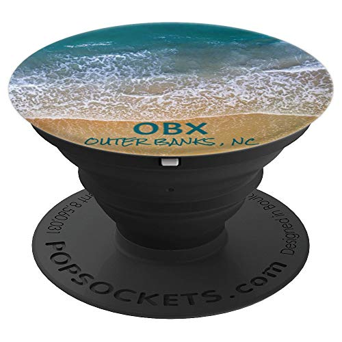 OBX Outer Banks NC North Carolina Ocean Beach Vacation Gift PopSockets Grip and Stand for Phones and Tablets