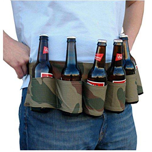 WINOMO Bier-Gürtel Trage-Gürtel Bierhalter für Partys Bergsteigen Hüfttaschen