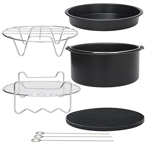 """Air Fryer Accessories 7"""" for Gowise Phillips Cozyna Fit all 3.7QT-5.3QT-5.8QT, Set of 5"""
