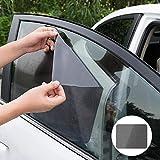 LLDEJUSH Estilo de Coche 2 unids/Set Parasol Cubierta de película para Ventana Parasol Lateral Pegatina Protectora para Honda Toyota BMW Lada KIA Opel