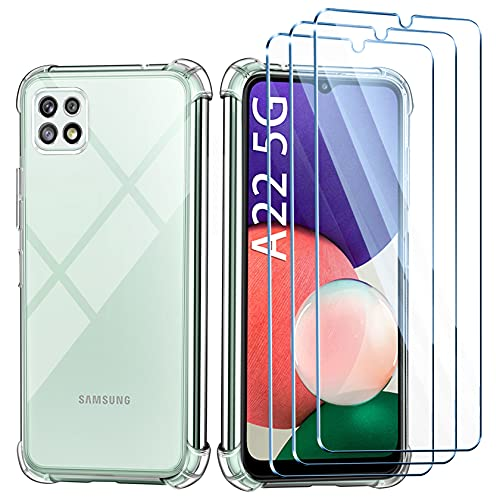 Leathlux Funda Compatible con Samsung Galaxy A22 5G(6.6