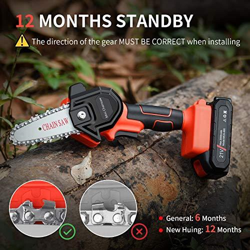 Mini Cordless Chainsaw Kit, Upgraded 4